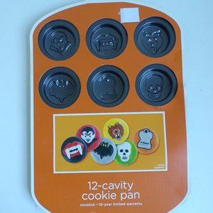 Halloween Cookie Pan Vampire Skull Werewolf Fangs